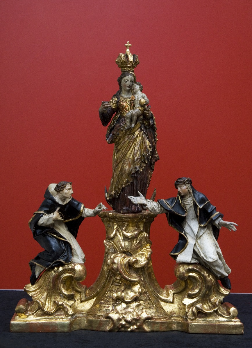 The miniature sculpture with St Dominic and St Clare in the Regional Museum Maribor (Institute for the Protection of Cultural Heritage of Slovenia, photo by Valentin Benedik, 2018)
