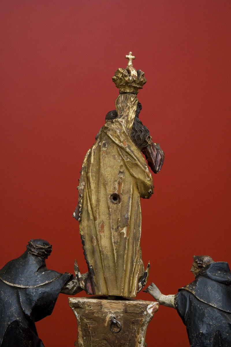 The miniature sculpture with St Dominic and St Clare in the Regional Museum Maribor, detail (Institute for the Protection of Cultural Heritage of Slovenia, photo by Valentin Benedik, 2018)