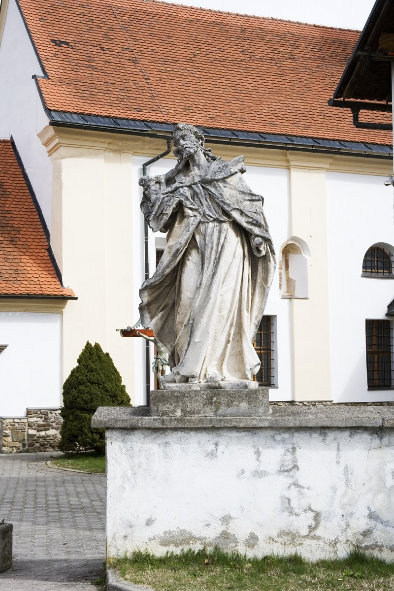 The sculpture of St Joseph in Slivnica pri Mariboru (Institute for the Protection of Cultural Heritage of Slovenia, photo by Valentin Benedik, 2018)